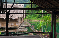 Bamboo huts Stock Photo
