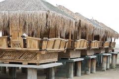 Bamboo Huts. At Beach Side royalty free stock image