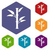Bamboo icons set Royalty Free Stock Photography