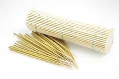 Bamboo with incense box Stock Photo