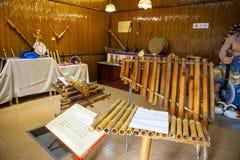 Bamboo instruments of  the minority Royalty Free Stock Photos