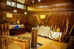 Bamboo instruments of  the minority Royalty Free Stock Photography