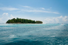 Bamboo island in a sunshine day Stock Photos