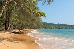 Bamboo Island view. Hidden paradise in Cambodian ocean coast Royalty Free Stock Photos