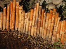 Bamboo japanese fence. Bamboo japanese fence in a garden Royalty Free Stock Photography