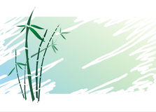 Bamboo Japanese style on textured background Royalty Free Stock Photography