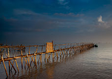 Bamboo Jetty Stock Photography