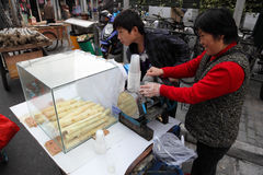 Bamboo juice vendor in China Stock Photography