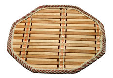 Bamboo kitchen trivet Royalty Free Stock Image