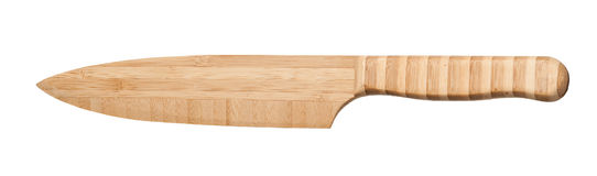 Bamboo Knife. Isolated photo of a wooden knife, made of a natural material, bamboo Royalty Free Stock Images