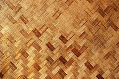 Bamboo Knit Mat Background Texture Stock Photography
