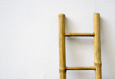Bamboo ladder Stock Images