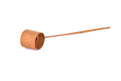 Bamboo ladle on white background Stock Photography