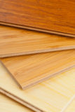 Bamboo laminate flooring close up Stock Image