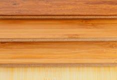 Bamboo laminate flooring close up stock images