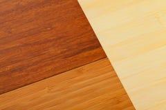 Bamboo laminate flooring samples stock image