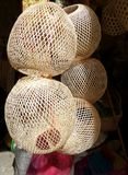 Bamboo lamp basketry structure Royalty Free Stock Photography