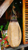 Bamboo lamp Stock Image