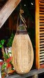 Bamboo lamp Stock Image