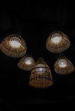 Bamboo lamp Stock Images
