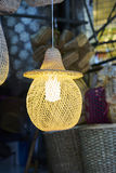 Bamboo lamp. Stock Image
