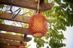 Bamboo lanterns landscape Royalty Free Stock Photography