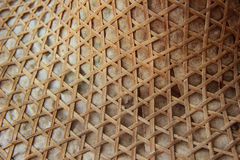 Bamboo lattice and paper wall Stock Photography