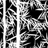 Bamboo leaf background. Floral seamless texture with leaves. Royalty Free Stock Photos