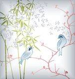 Bamboo Leaf and Bird 2 Stock Photography