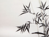 Bamboo leaf royalty free illustration