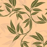 Bamboo leaves. Vector illustration background royalty free illustration
