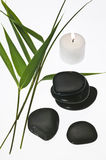 Bamboo leaves candle Stock Images