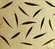 Bamboo leaves paper Royalty Free Stock Photo