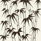 Bamboo with leaves pattern. Stock Photos