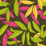 Bamboo leaves seamless pattern Stock Image