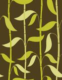 Bamboo leaves - seamless pattern. Floral seamless pattern with styled leaves Stock Photos