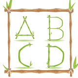 Bamboo Letter Alphabet Green Set A Vector Royalty Free Stock Photography