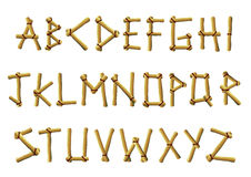 Bamboo Letters Royalty Free Stock Photography