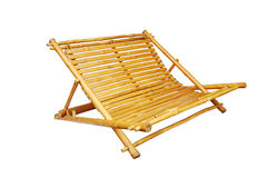 Bamboo lounge chair isolated. On white background Royalty Free Stock Image