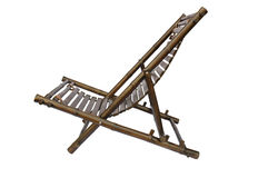 Bamboo lounge chair isolated Stock Image