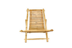Bamboo lounge chair isolated. On white background Royalty Free Stock Photo