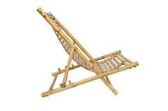 Bamboo lounge chair isolated. On white background Royalty Free Stock Photos