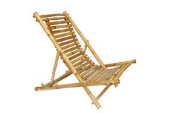 Bamboo lounge chair isolated Stock Photography