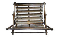 Bamboo lounge chair isolated Stock Images