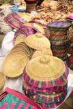 Bamboo made baskets displayed in bangladeshi local fair royalty free stock photos