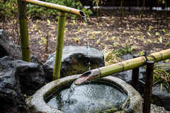Bamboo Made Water System Stock Images