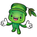Bamboo mascot the direction of pointing with both hands. Nature Royalty Free Stock Image