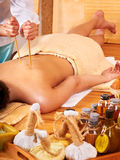 Bamboo massage. Stock Photography