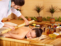 Bamboo massage. Stock Images