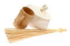 Bamboo massage broom  Royalty Free Stock Photos